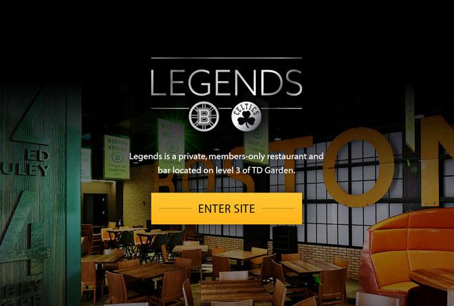 TD Garden – Legends Microsite